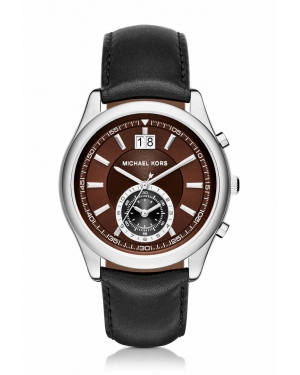 Часы Michael Kors Aiden Silver-Tone And Leather Watch MK8415