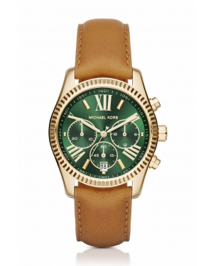 Часы Michael Kors Lexington Gold-Tone And Leather Watch MK2431