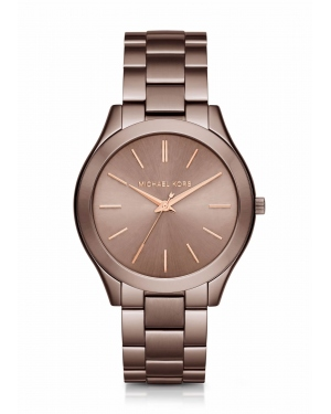 Часы Michael Kors Slim Runway Sable And Rose Gold-Tone Watch MK3418