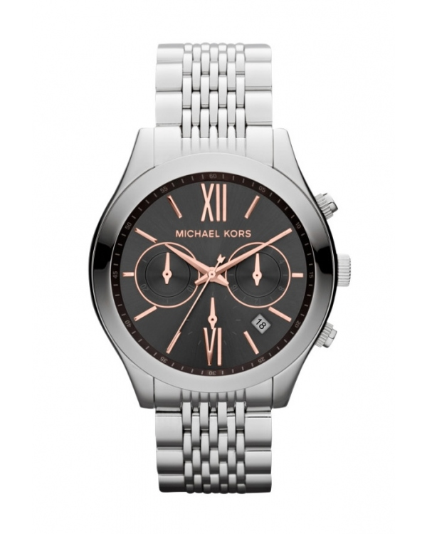 Часы Michael Kors Brookton Silver-Tone Chronograph Watch MK5761