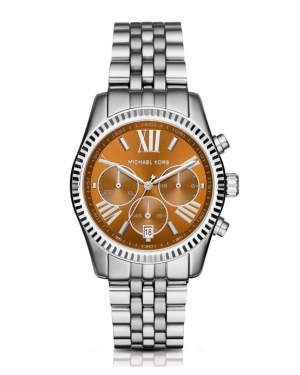 Часы Michael Kors Lexington Whiskey And Silver-Tone Watch MK6221