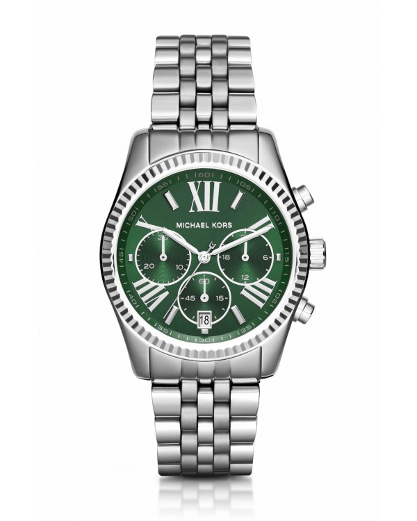 Часы Michael Kors Lexington Green And Silver-Tone Watch MK6222