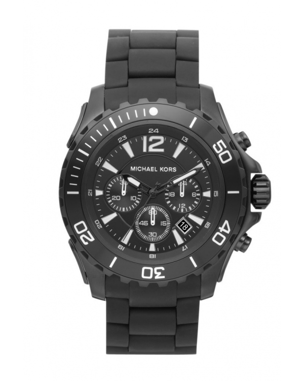 Часы Michael Kors Drake Stainless Steel Silicone Strap Watch MK8211