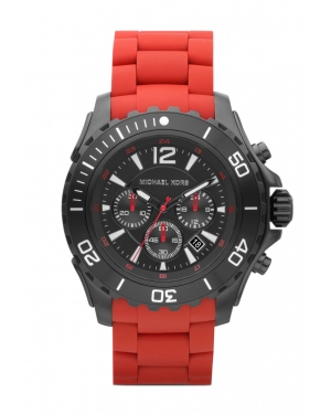 Часы Michael Kors Drake Stainless Steel Silicone Strap Watch MK8212