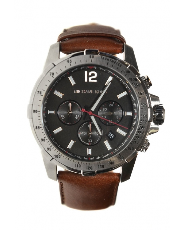 Часы Michael Kors Mahogany Leather Chronograph Watch MK8378