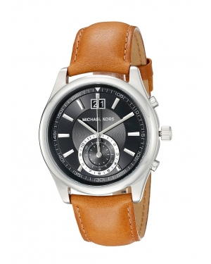 Часы Michael Kors Aiden Silver-Tone And Leather Watch MK8416