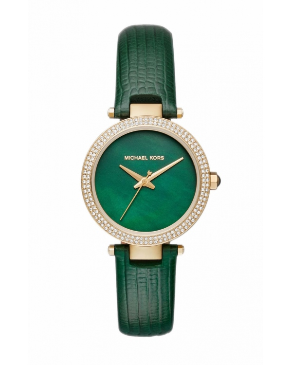 Часы Michael Kors Mini Parker Pave Gold-Tone And Leather Watch MK2592
