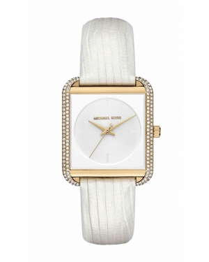Часы Michael Kors Lake Pave Gold-Tone And Embossed-Leather Watch MK2600