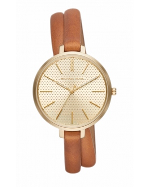 Часы Michael Kors Jaryn Gold-Tone And Leather Wrap Watch MK2603