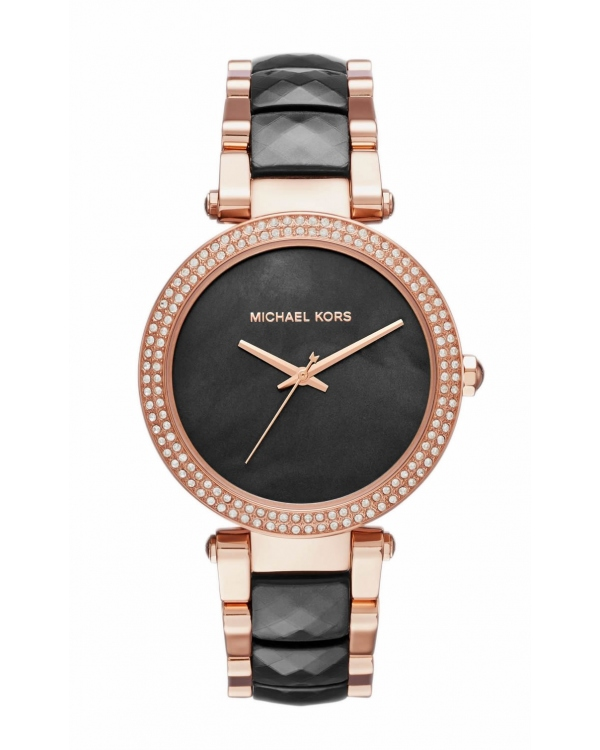Часы Michael Kors Parker Rose Gold-Tone And Acetate Watch MK6414