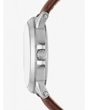Часы Michael Kors Paxton Silver-Tone And Leather Watch MK8501