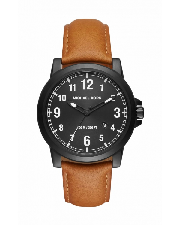 Часы Michael Kors Paxton Black-Tone And Leather Watch MK8502