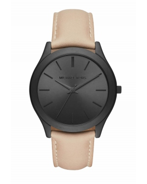 Часы Michael Kors Slim Runway Black-Tone And Leather Watch MK8510