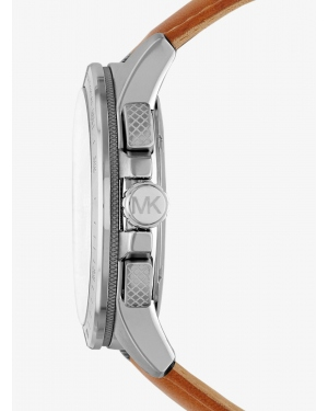 Часы Michael Kors Ryker Silver-Tone And Leather Watch MK8518