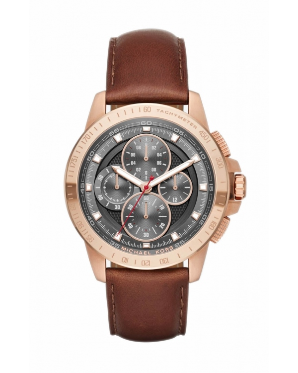 Часы Michael Kors Ryker Rose Gold-Tone And Leather Watch MK8519