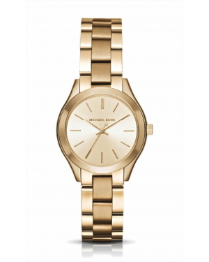 Часы Michael Kors Mini Slim Runway Gold-Tone Watch MK3512