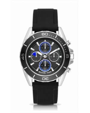 Часы Michael Kors JetMaster Silver-Tone And Leather Watch MK8485