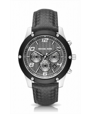 Часы Michael Kors Caine Silver-Tone And Silicone Watch MK8488