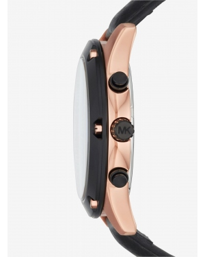 Часы Michael Kors Caine Rose Gold-Tone And Silicone Watch MK8489