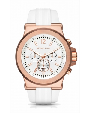 Часы Michael Kors Dylan Rose Gold-Tone And Silicone Watch MK8492