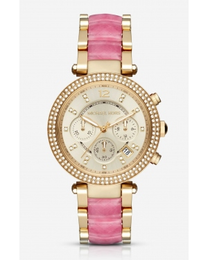 Часы Michael Kors Parker Gold-Tone And Acetate Watch MK6363