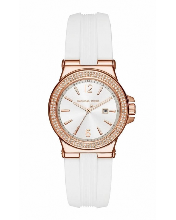Часы Michael Kors Mini Dylan Rose Gold-Tone And Silicone Watch MK2491