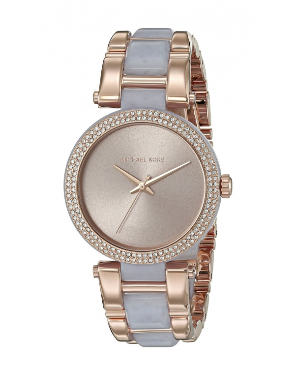 Часы Michael Kors Delray Pave Rose Gold-Tone and Acetate Watch MK4319