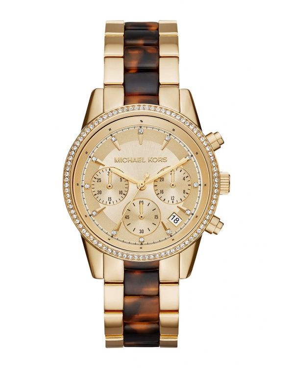 Часы Michael Kors Ritz Gold-Tone And Acetate Watch MK6322
