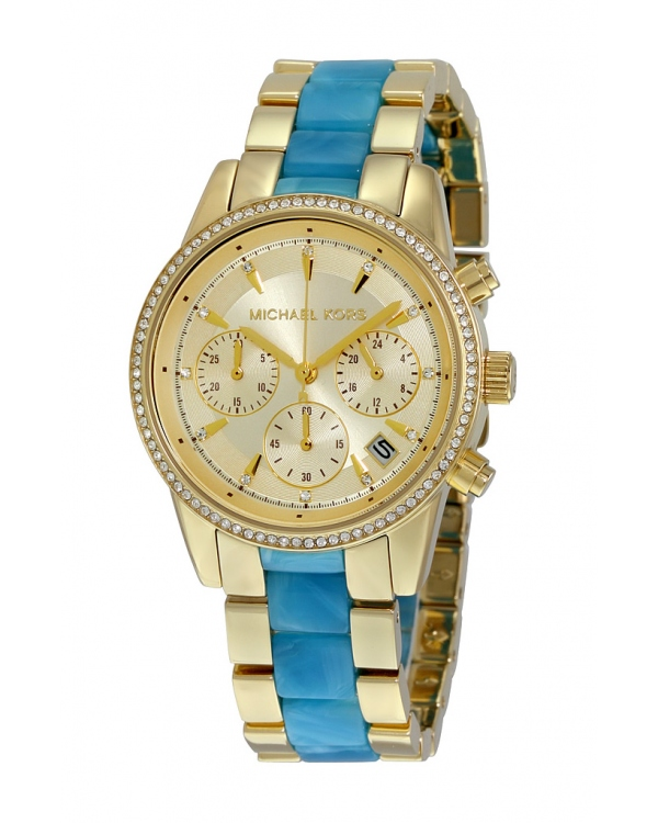 Часы Michael Kors Ritz Gold-Tone And Acetate Watch MK6328