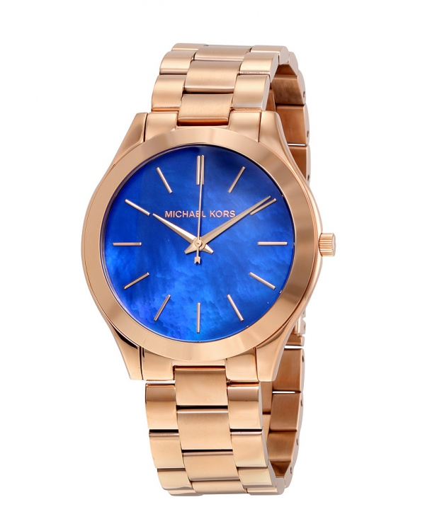 Часы Michael Kors Slim Runway Rose Gold-Tone Stainless Steel Watch MK3494
