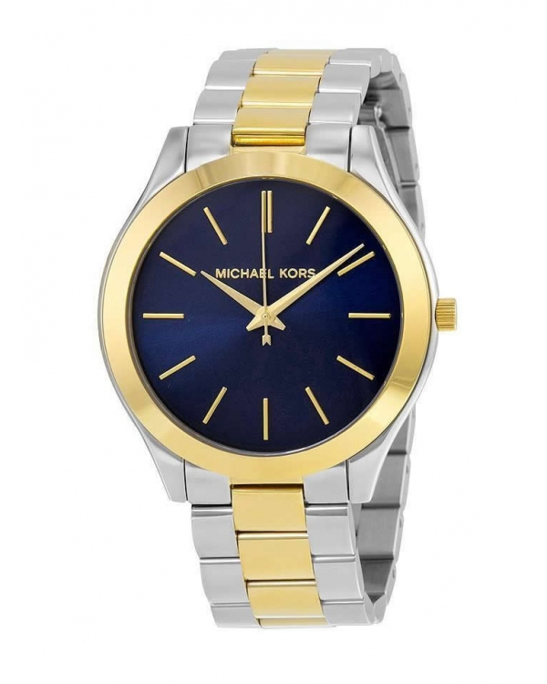 Часы Michael Kors Slim Runway Silver And Gold-Tone Watch MK3479