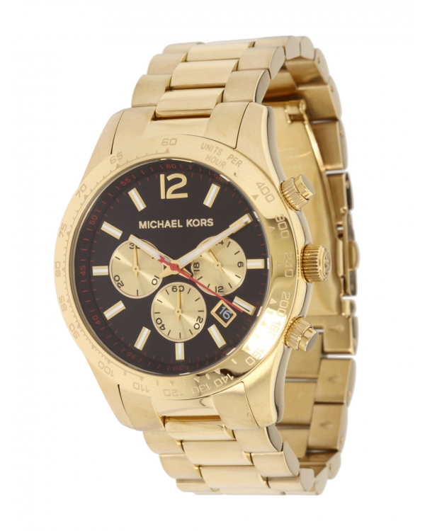 Часы Michael Kors Layton Gold-Tone Stainless Steel Chronograph Watch MK8246