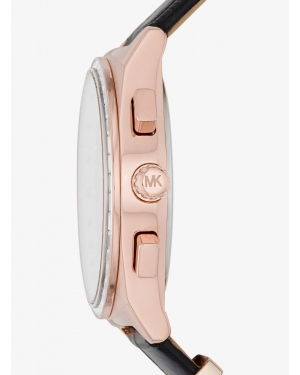 Часы Michael Kors Vail Rose Gold-Tone and Embossed-Leather Watch MK2616