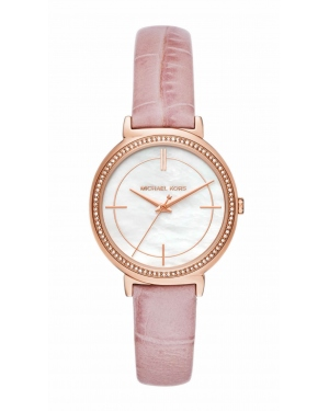Часы Michael Kors Cinthia Rose Gold-Tone and Embossed-Leather Watch MK2663
