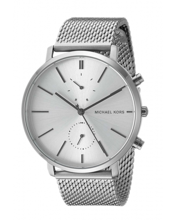 Часы Michael Kors Jaryn Silver Dial Mens Stainless Steel Mesh Watch MK8541
