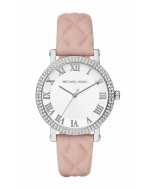 Часы Michael Kors White Sunray Dial Ladies Quilted Leather Watch MK2617