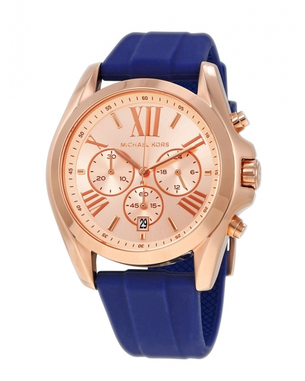 Часы Michael Kors Bradshaw Rose Gold Dial Ladies Chronograph Watch MK2650