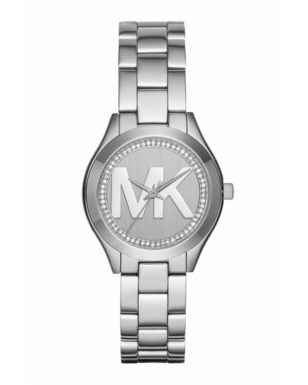 Часы Michael Kors Mini Slim Runway Silver Dial Ladies Watch MK3548