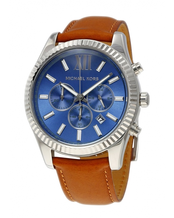 Часы Michael Kors Lexington Blue Dial Mens Chronograph Watch MK8537