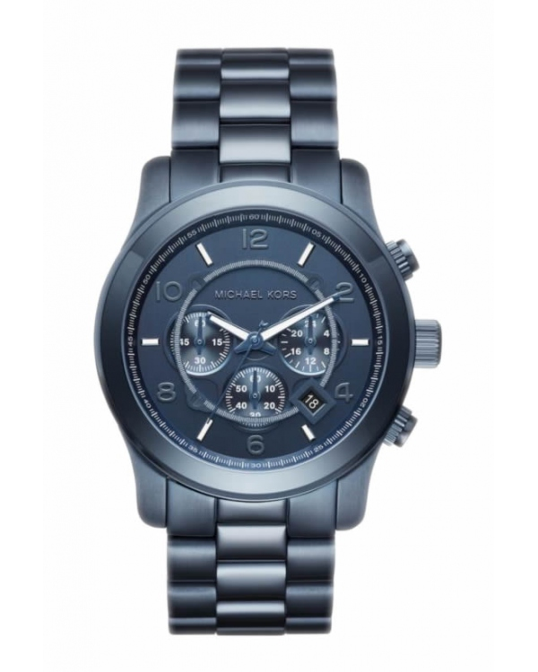 Часы Michael Kors Runway Navy Blue Dial Mens Chronograph Watch MK8538