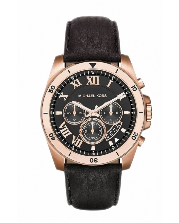 Часы Michael Kors Brecken Black Dial Mens Chronograph Watch MK8544