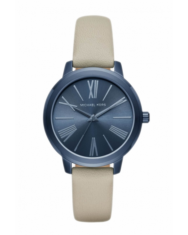 Часы Michael Kors Hartman Navy-Tone And Leather Watch MK2628
