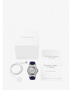 Часы Michael Kors Access Dylan Silicone Silver-Tone Smartwatch MKT5008