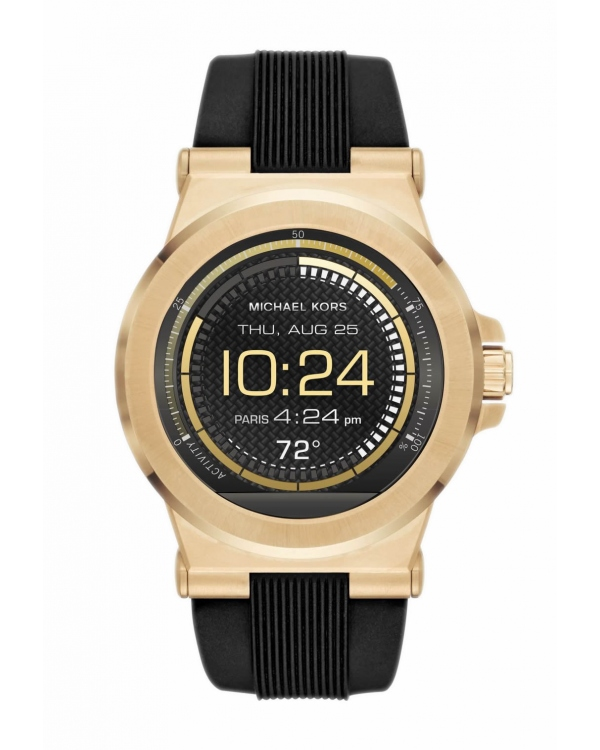 Часы Michael Kors Access Dylan Silicone Gold-Tone Smartwatch MKT5009