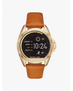 Ремешок Michael Kors Access Bradshaw Leather Smartwatch Strap MKT9004