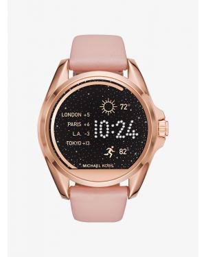 Ремешок Michael Kors Access Bradshaw Leather Smartwatch Strap MKT9016
