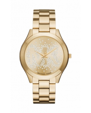 Часы Michael Kors Slim Runway Scatter Logo Gold-Tone Watch MK3590