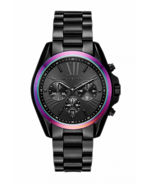Часы Michael Kors Bradshaw Black-Tone and Iridescent Watch MK6444