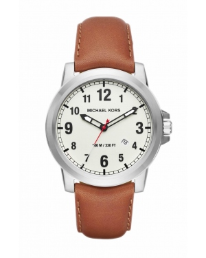 Часы Michael Kors Paxton Silver-Tone And Leather Watch MK8531
