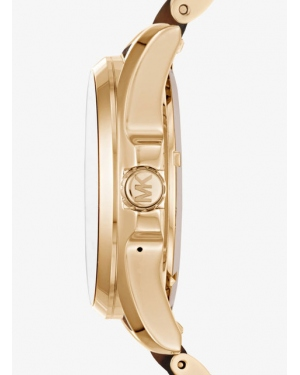 Часы Michael Kors Access Bradshaw Gold-Tone and Acetate Smartwatch MKT5003